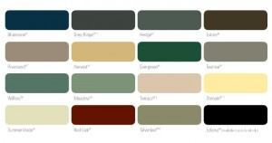 colour chart fencing