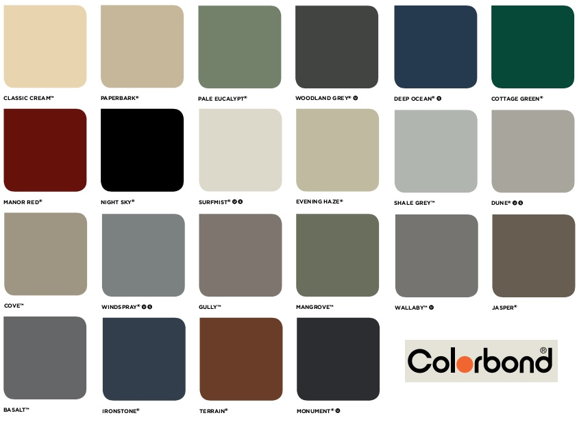 Colour Chart Fencemart